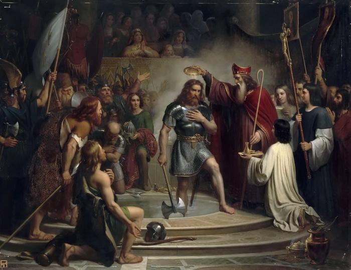 Ф.Л. Дежуинь. Крещение Хлодвига в Реймсе в 496 году